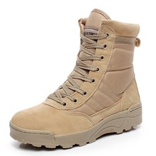 G7002 Autumn Winter Special Forces High top men's leather shoes Combat desert military boots