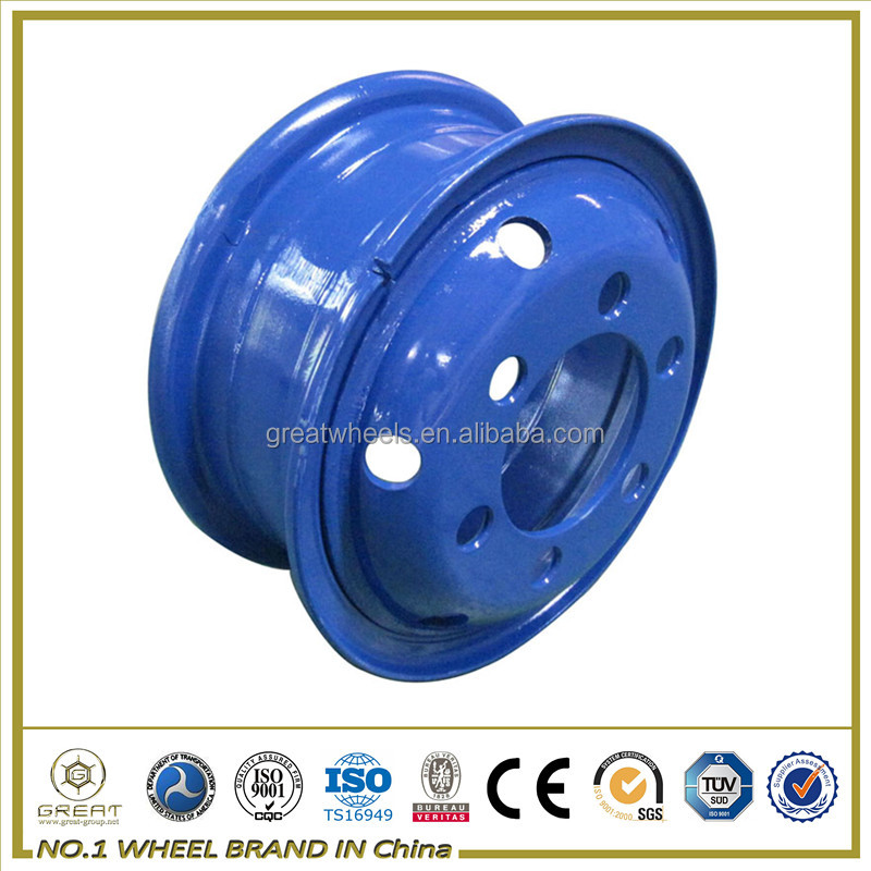 blue color steel wheel rim with truck tube 16 20 inch steel wheels