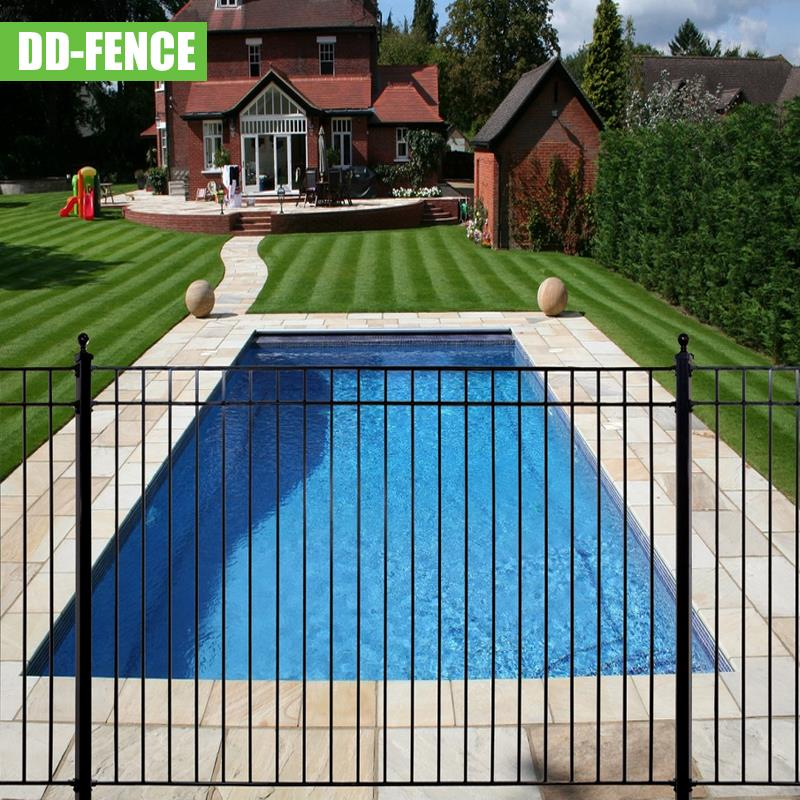 vinyl coated welded wire mesh road safety barrier wrought iron fence