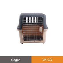 Kiss grooming VK-CD Stackable Stable structure dog flight cage restaint cage ergonomic handle pet carrying puppy cage