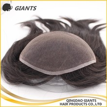 Top quality 100% human hair Integration piece hair replacement for woman