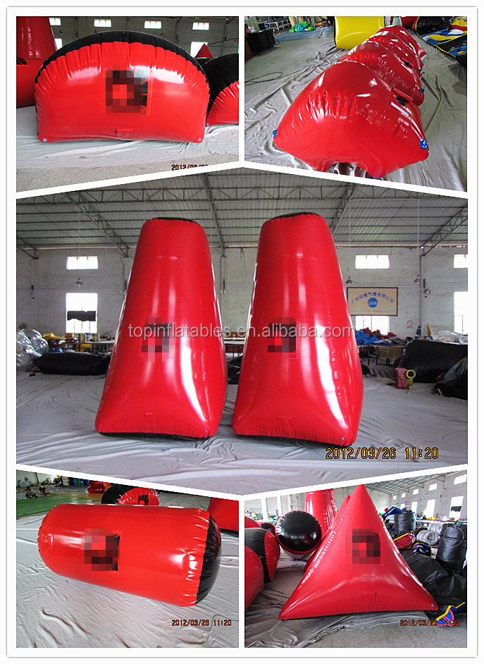 cheap used obstacle inflatable paintball air bunkers