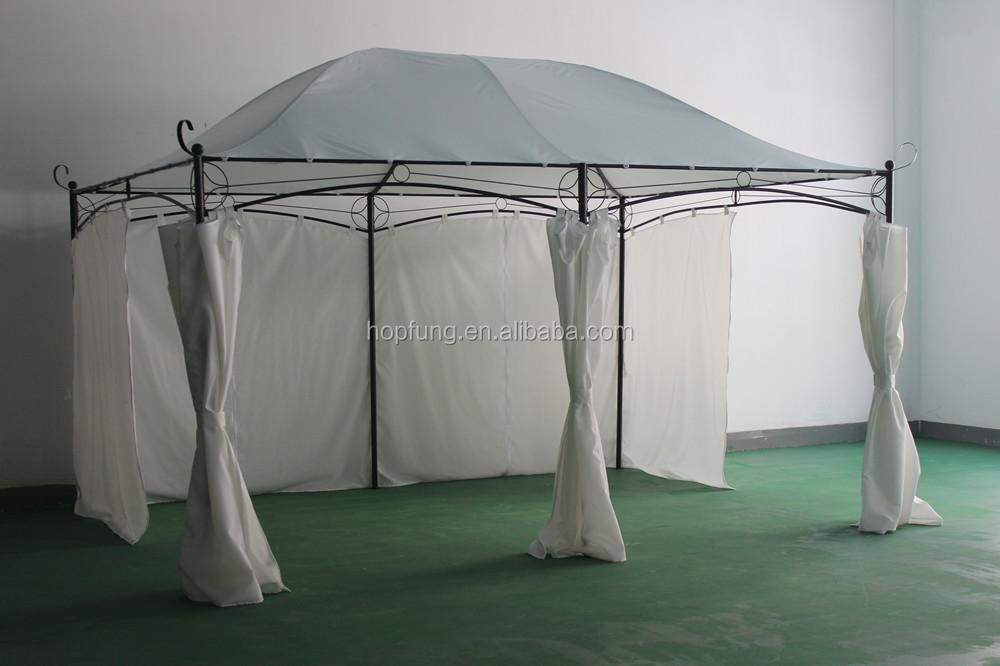 3x4m deluxe outdoor garden metal gazebo