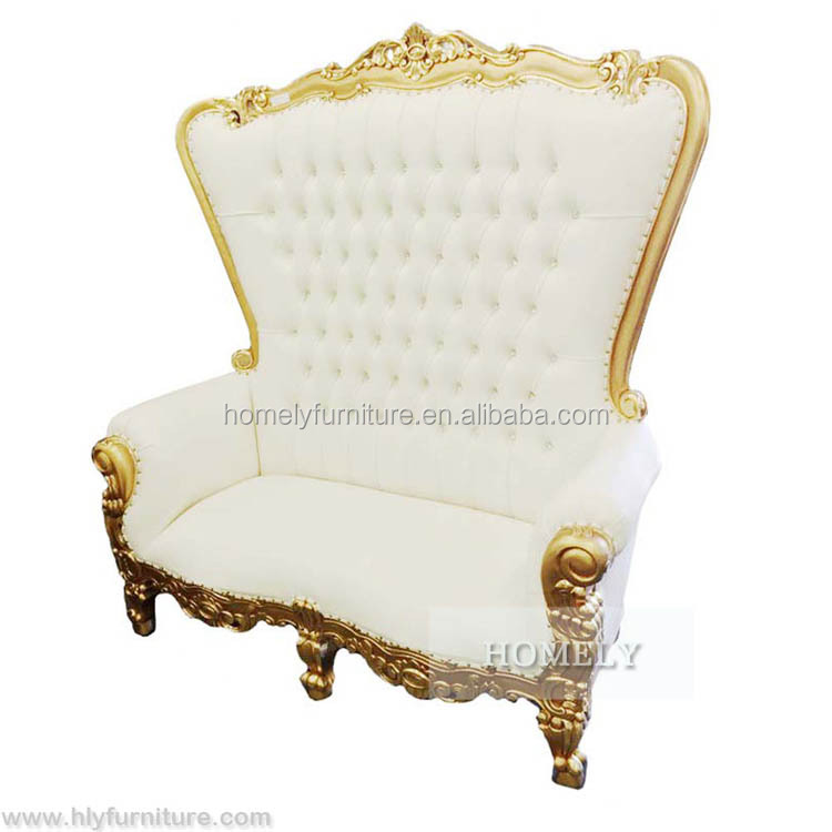 Wholesale antique wooden carved mahogany high back gold pink king queen chair cheap king throne chair rental