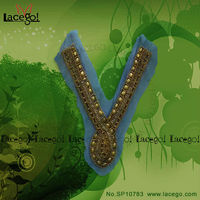 Free Sample Water Soluble cotton Metal Lace