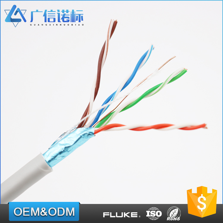 Professional supplier CM,CMR,CMP fire rating 1000ft cat 5e FTP copper wire lan network cable