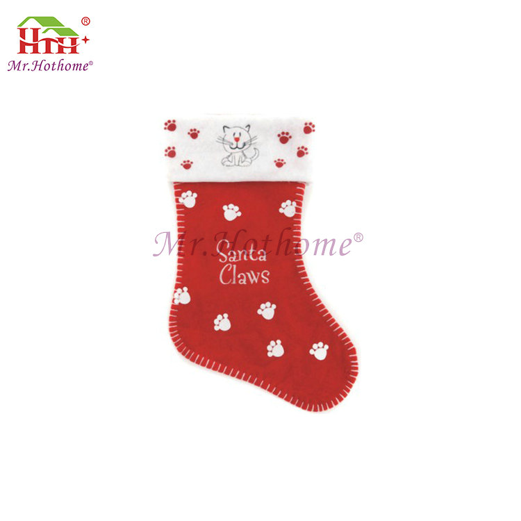 Mini plush animal head decoration christmas sock stocking christmas