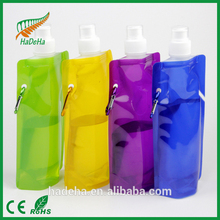 2016 hot sell Flexible Collapsible Foldable Reusable Water Bottles BPA Free