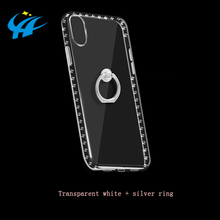 squishy transparent phone case oem diamond studded cell phone case
