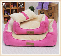 Wholesale Warm plush Suede Dog Bed with Pillow Removable Washable Cover for Winter