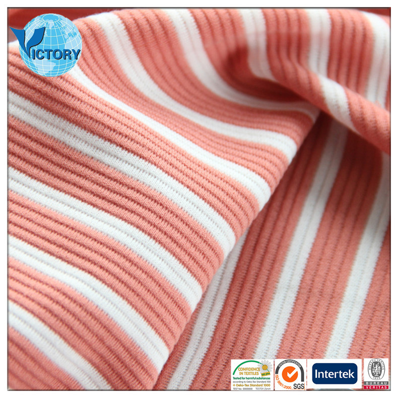 Stripe Ottoman Knitting Fabric For Swimwear, Underwear, Garment