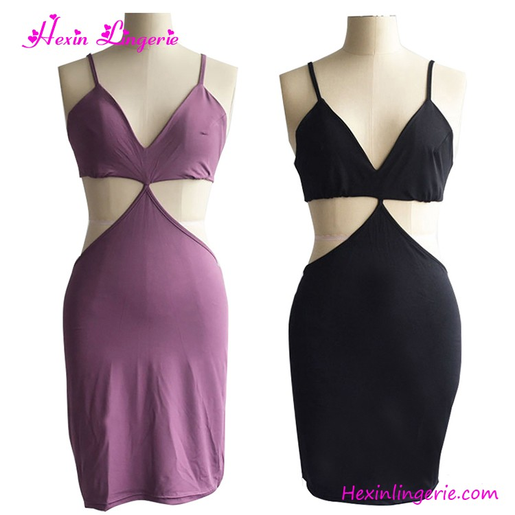 2017 Cheapest Purple Harness Backless Women Casual Summer Dress