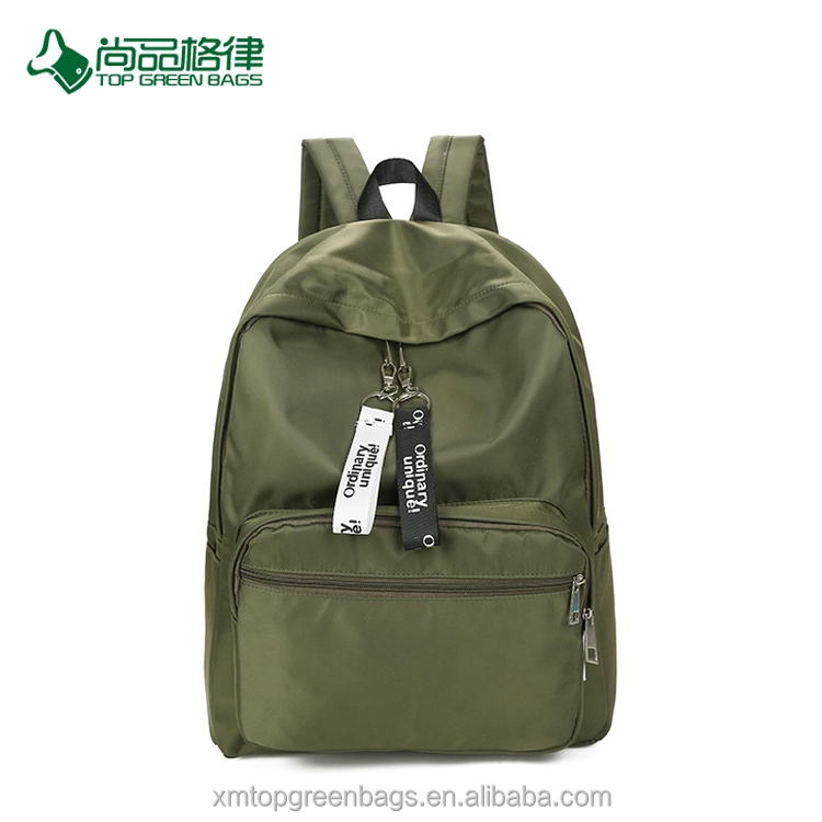 China simple hot style wholesale multi-pocket polyester leisure travel backpack