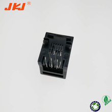 RJ11 Jack Top entry 6P6C,Full Plastic with panel