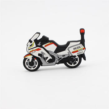 Promotional 3d pvc motorcycle shape usb flash drive 4gb