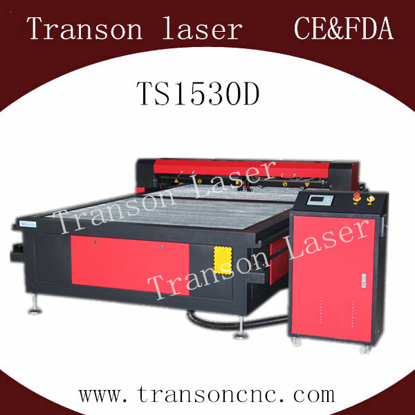 TS1530D Laser cutting machine with two heads 150w