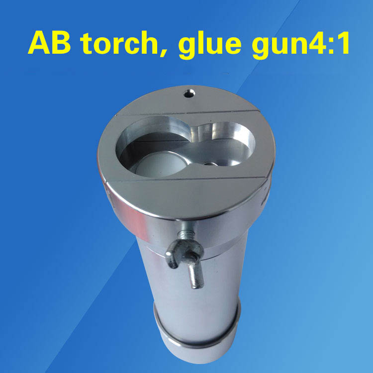 Flashlight pneumatic gun double liquid dispensing valve AB AB 1:1 2:1 4:1 10:1 dispensing syringe