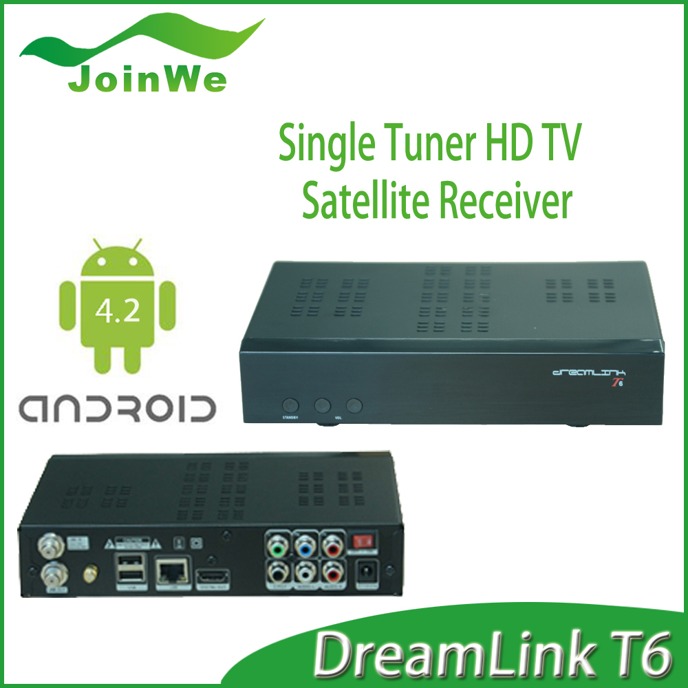 New android tv box dreamlink t6 iptv satellite receiver for North America Support IKS