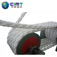 China hot sale large strength 12-strand braided used ships mooring ropes for marine