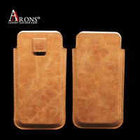 High quality top grain leather phone case leather pouch for iphone 6s plus