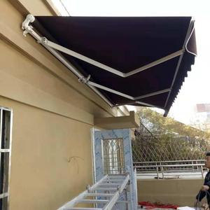 4mx3m economical waterproof polyester aluminum patio retractable awning