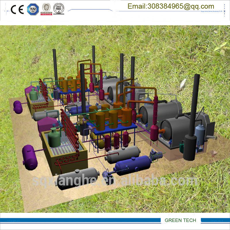 Waste engine oil distillation to diesel fraction oil for Waste motor oil to diesel