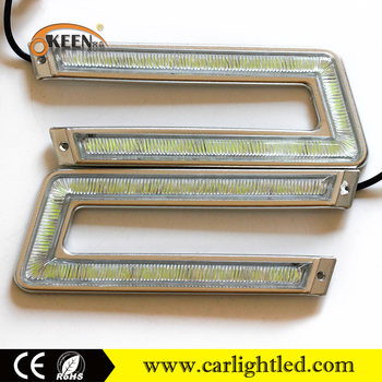 hot sale dc12v car auto led cob drl day light fog lamp led daytime runng lights bulb and driving light for all car