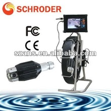 Pipe inspection snake camera with light/pipe cctv video inspection system with memory card