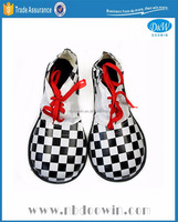 Black white checkered color clown shoes for Carnival/Party