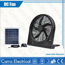 Portable AC DC solar rechargeable mini fan with battery