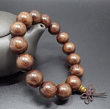 Natural Handmade High-End Collectibles 15 20mm Fine Texture Buddha Bead Bracelets Gold Phoebe Ebony Bracelet Men Jewelry