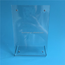 4x6 high transparent table top acrylic menu display holder