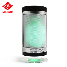 Outdoor pulse mini FM radio colorful flashing disco led lamp light dancing speaker