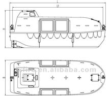 Partly enclosed life boat 75B-99B For Sale
