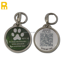 NFC Pet ID Collar rfid tag, qr code nfc pet tracking dog tag RFID