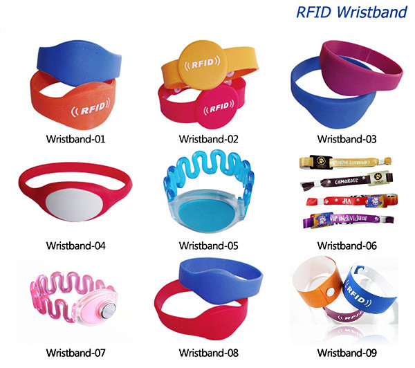 Custom Printing Plastic RFID NFC Wristband 13.56Mhz for Access Control