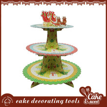 Competitive price 3 tier paper cupcake stand