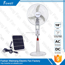 The Most Novel 2016 Factory Supply Strong Wind Brushless 12 Volt BLDC Stand Fan with LED light
