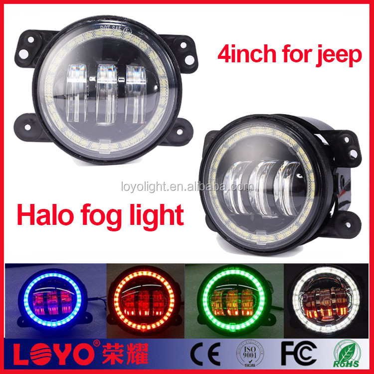 "Newest RGB 7 inch jeep wrangler led headlight Bluetooth 7"" halo ring led headlight Jeep Accessories"