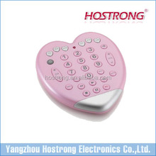 Heart shape pink color Universal Remote control