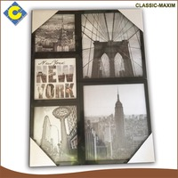 Combinable new york scenery decorative square picture frame art painting
