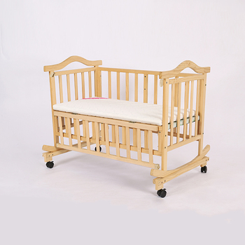 Baby Furniture wood luxury baby bedside cribs/baby crib dimensions