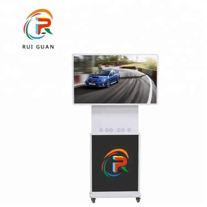 43 inch floor stand wifi touch screen lcd advertising media player