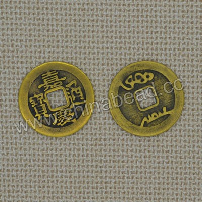 Metal coins, Zinc alloy antique Chinese zodiac sheep Fengshui coin collection