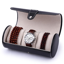 factory ODM custom leather watch case box , watch gift box , designer watch roll case
