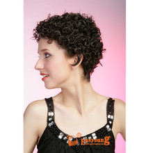 Short afro curly wigs for african american black women