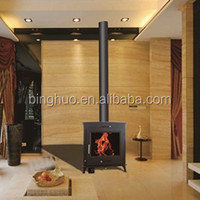 wood burning stove with water jacket,thermostat boiler stove
