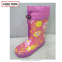 2016 hot sale top quality sunflower rain boots rubber overshoes