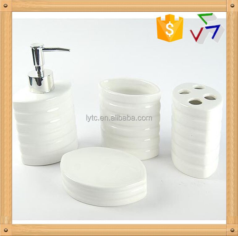 Hot sale ceramic bath room set buy bath room set ceramic for Bathroom accessories sets on sale