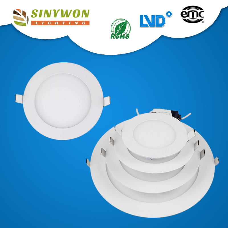 China wholesale round led panel 18w ultra thin, 220v CRI 80 SMD LED PANEL LIGHT WITH CE ROHS